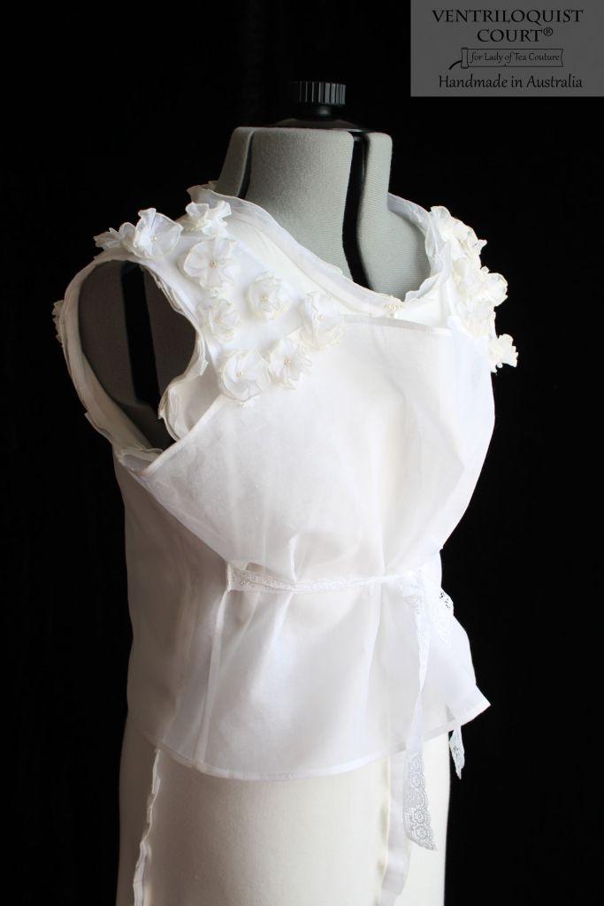 Designer white 2pc dress