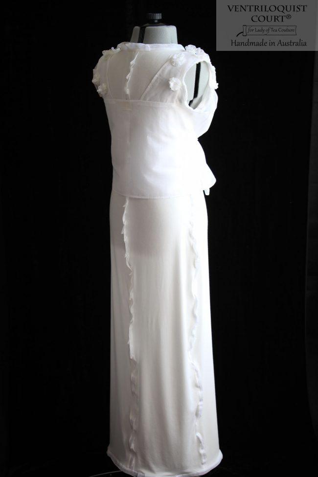 Sheer White & Cream Dress Tailor-Made in Australia