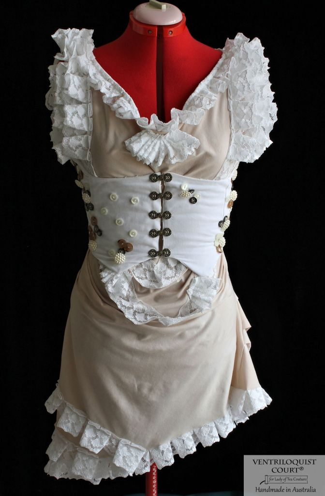 White & Cream Corset Dress - Online Alternative Store VENTRILOQUIST COURT®