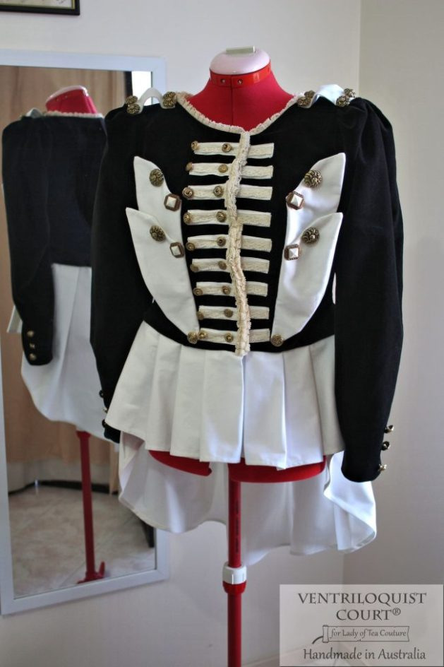 Black & White Steampunk Visual Kei Jacket