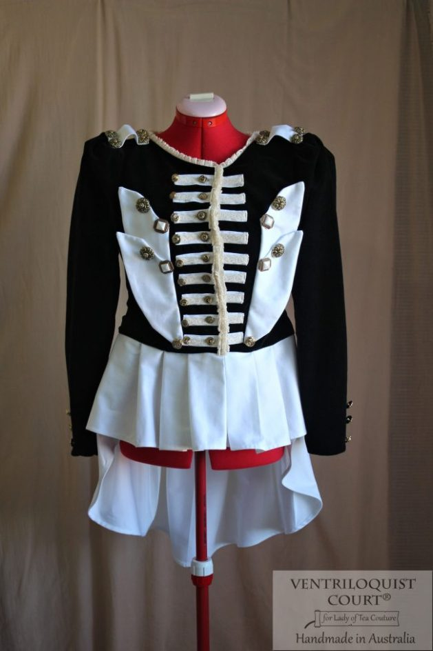 Black & White Military Circus Jacket
