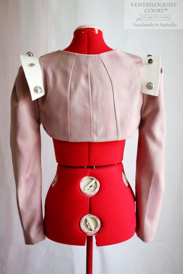 Avant-Garde Sci Fi Damask Cotton Jacket