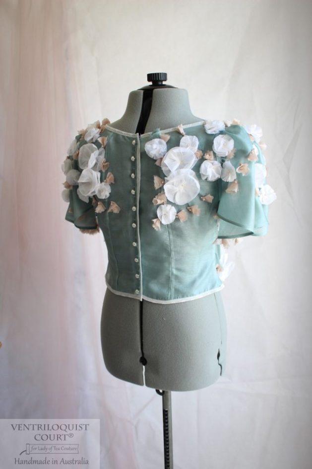 Romantic Sheer Bridal Blouse Handmade in Australia