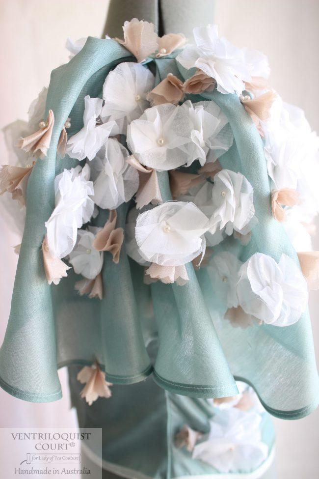 Couture petal buds bridal blouse