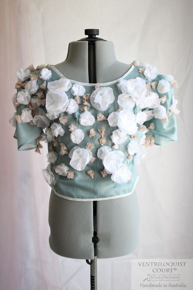 Floral Buds Wedding Bridal Top Handmade in Australia