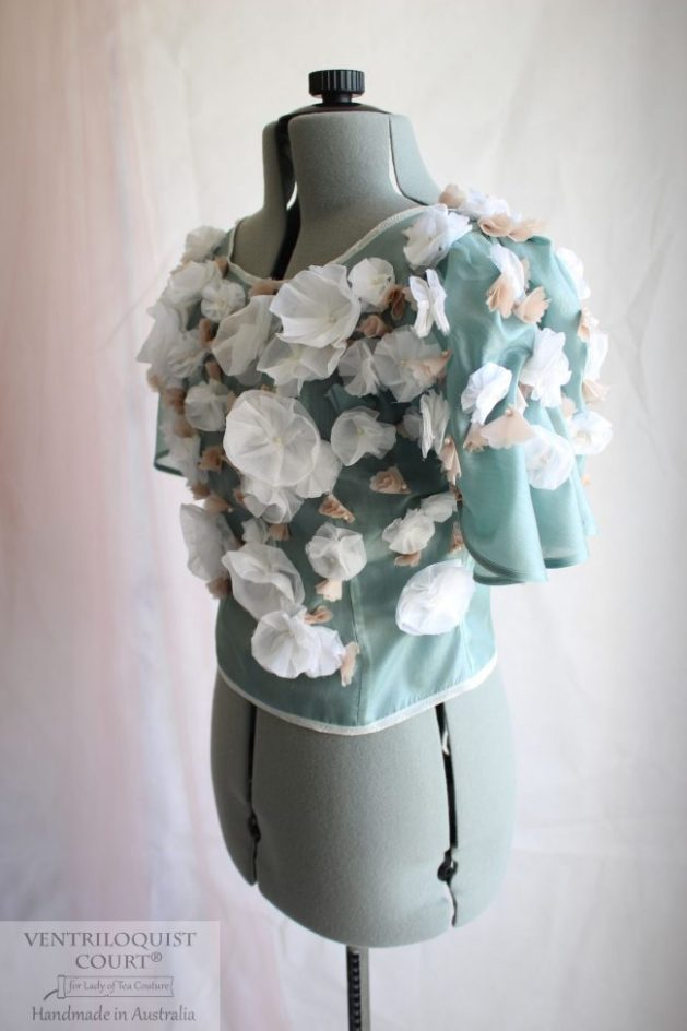 Duck Egg Green-Blue Peace Silk Bridal Blouse