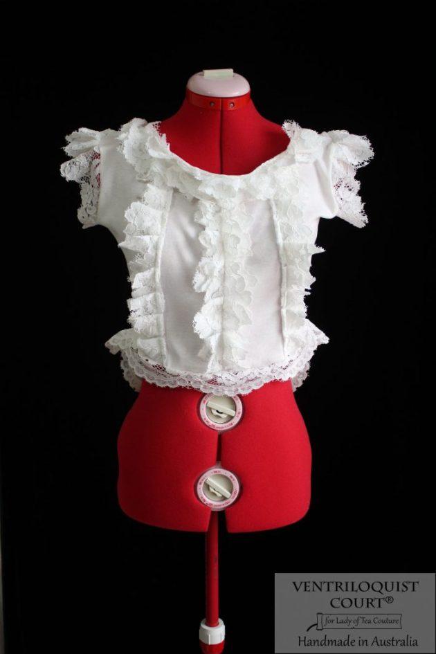 Romantic Pale Cream Ruffle Blouse Tailor Made