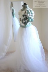 Floral buds formal tulle gown by Ventriloquist Court®