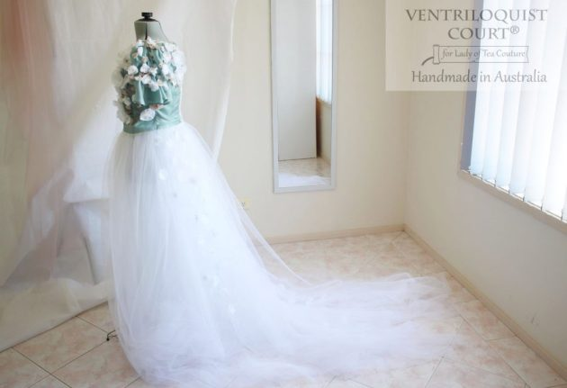 Princess Gown with Trail - Bridal Designer Ventriloquist Court®