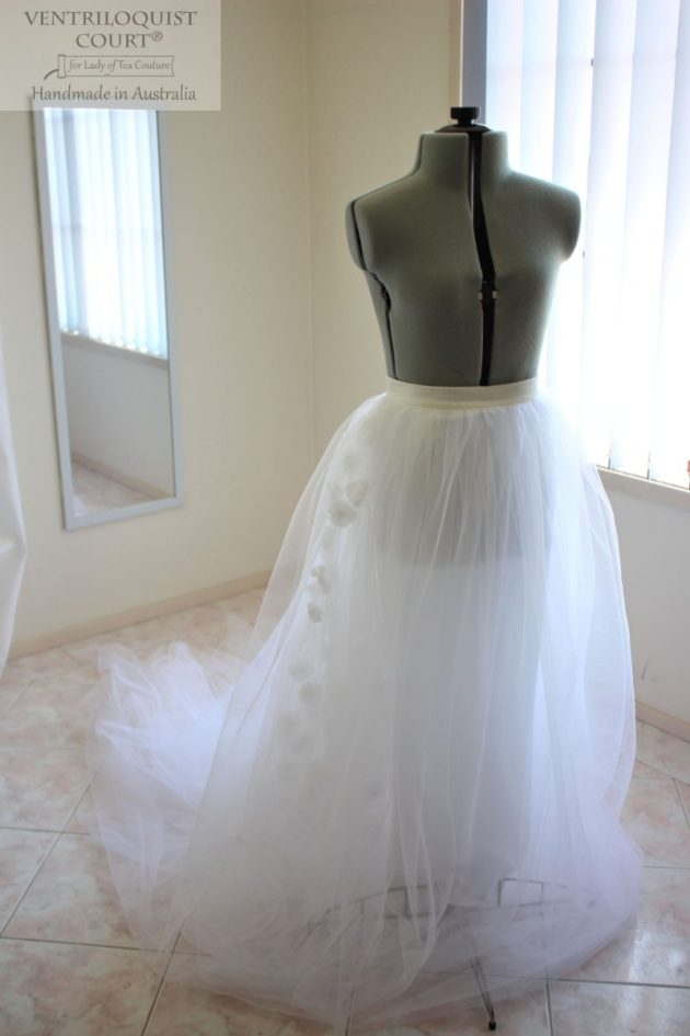 Whimsical wedding tulle skirt