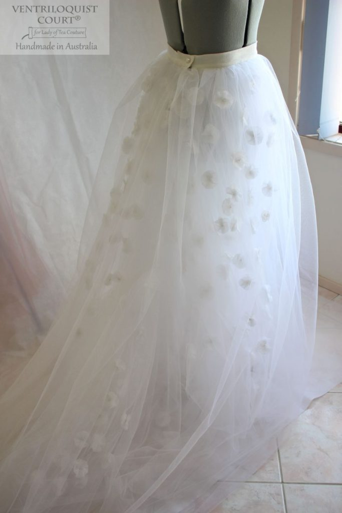 Fairy tale wedding tulle skirt