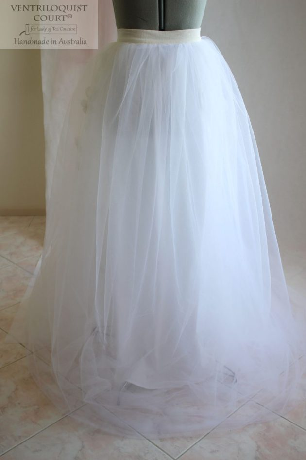 Long formal tulle skirt