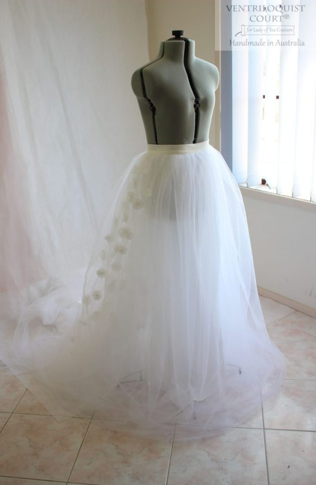 Floor length tulle skirt