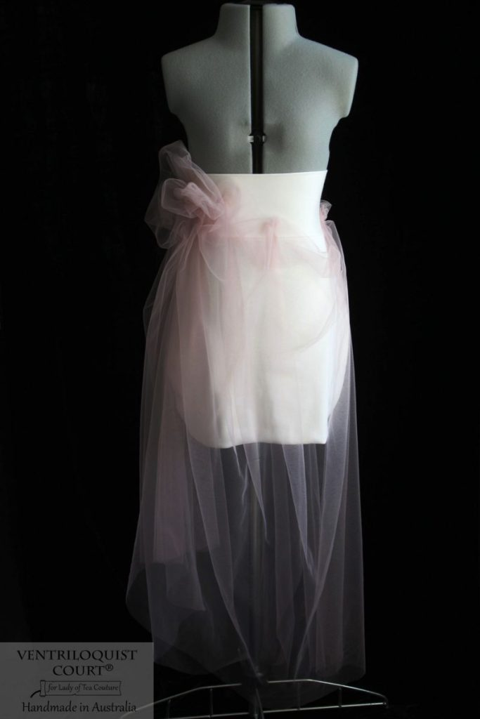 Designer tulle skirt with bow