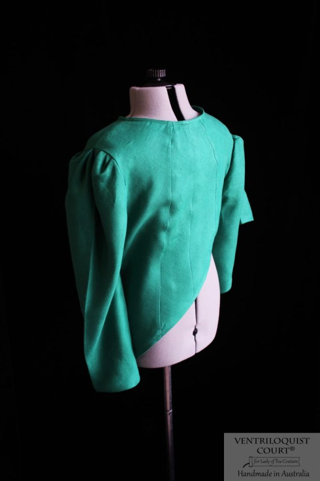 Green Linen Jacket Handmade in Australia