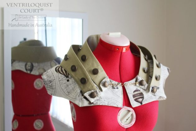 Steampunk sci fi collar