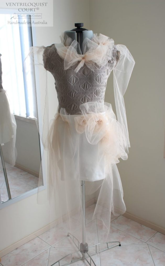 Romantic Dress with Tulle Gathers
