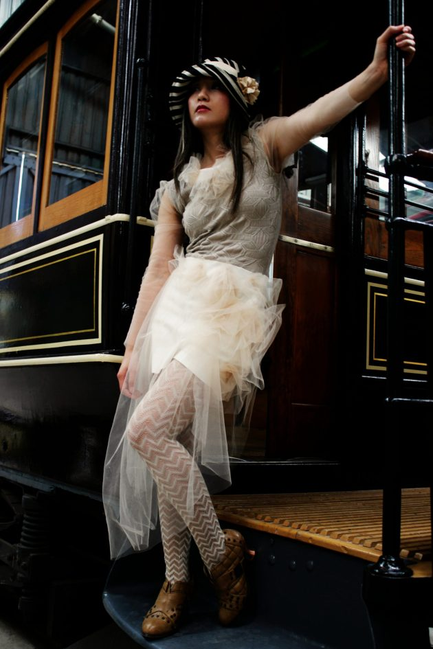 Romantic Sheer Tulle Puffy Sleeve Dress