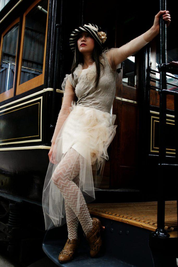 Romantic Sheer Tulle Puffy Sleeve Dress
