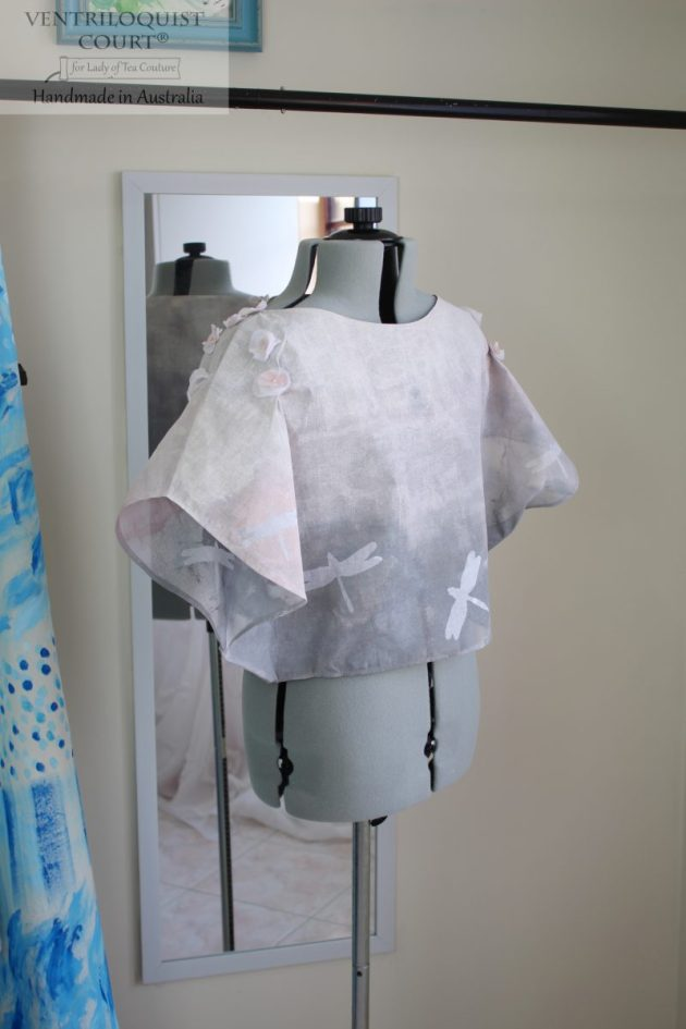 Handmade Dragonfly Cotton Top