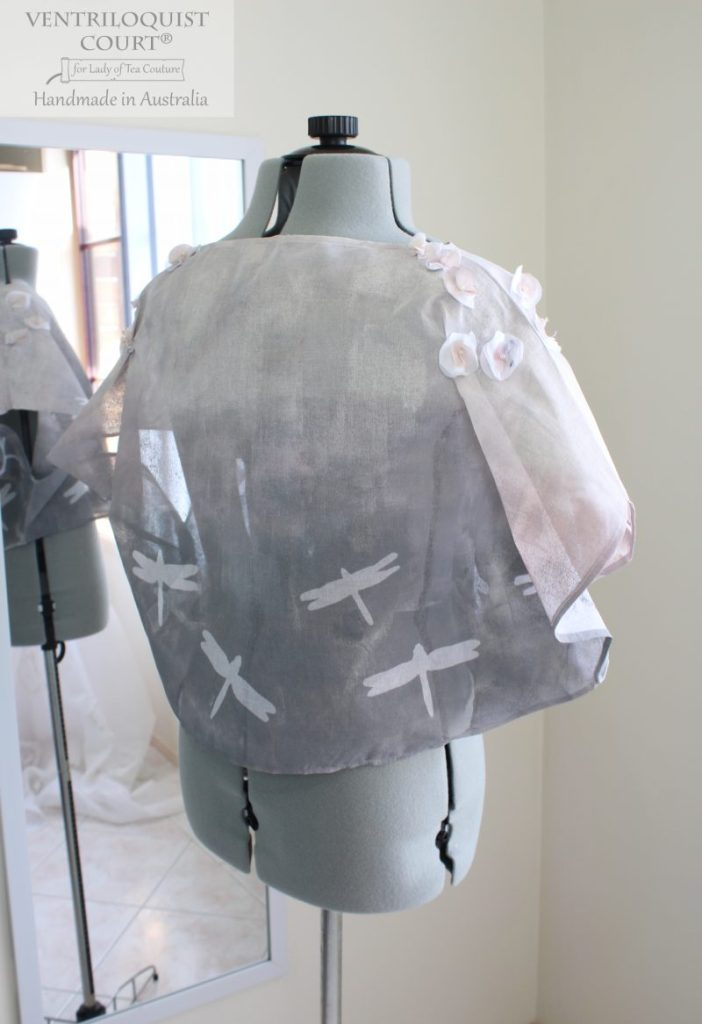 Hand-painted dragonfly print top