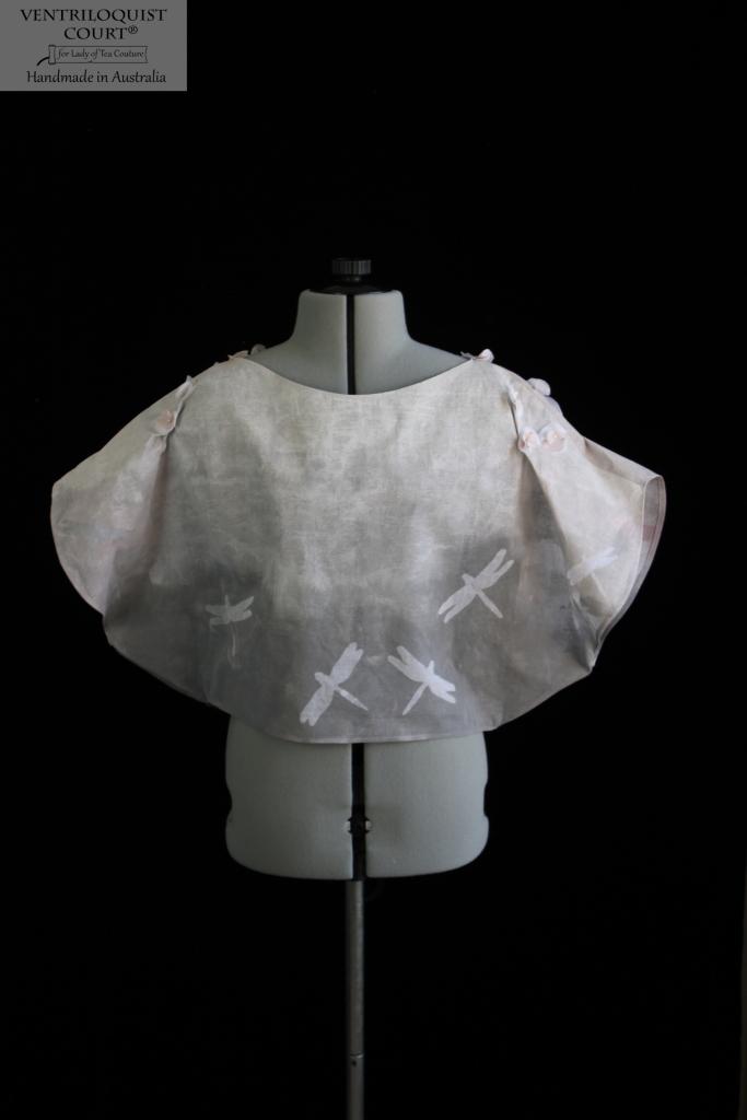 Art print batwing top