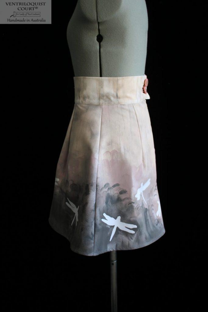 Hand-painted handmade cotton skirt