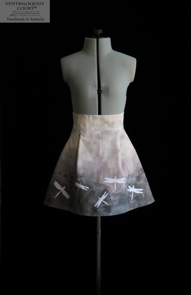 Dragonfly art print skirt