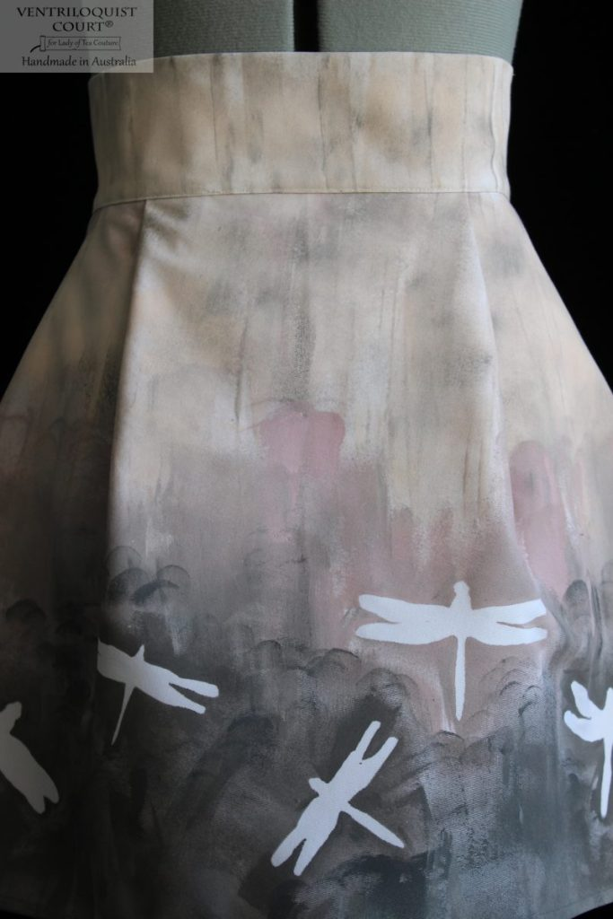 Hand-painted dragonfly skirt