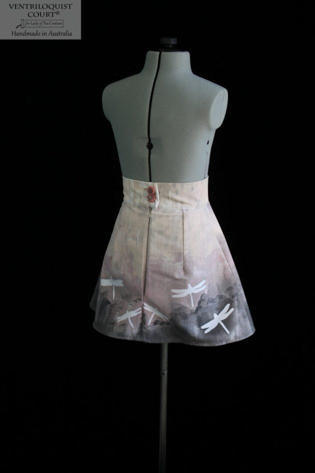 Handmade dragonfly print skirt