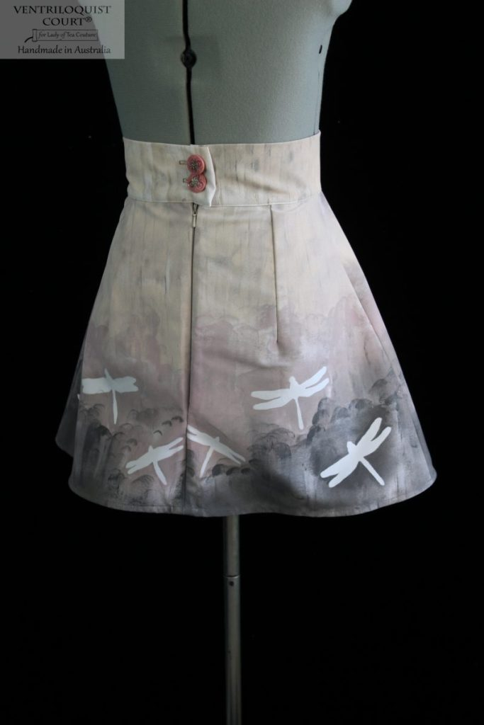 Mini A-line cotton drill skirt - gradient colour