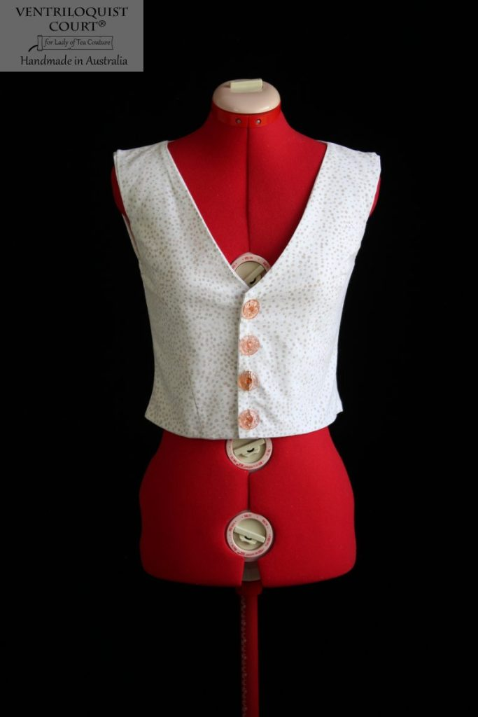 Custom hand printed cotton drill vest