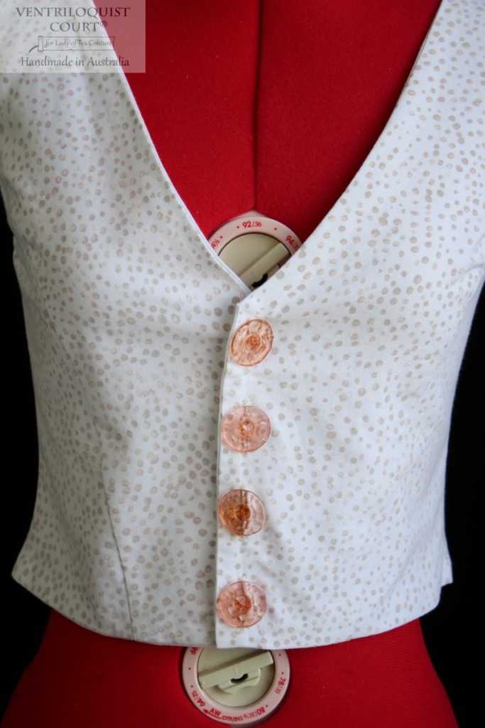 Hand-painted dotted vest