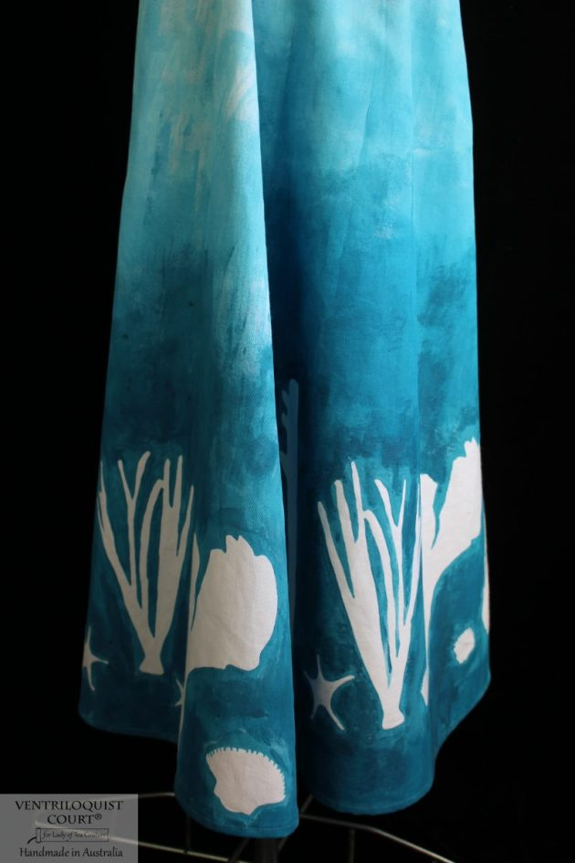 Handmade coral print skirt
