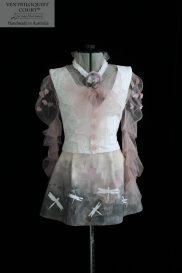 Fashion Art Hand-Painted Dragonfly Print Dress