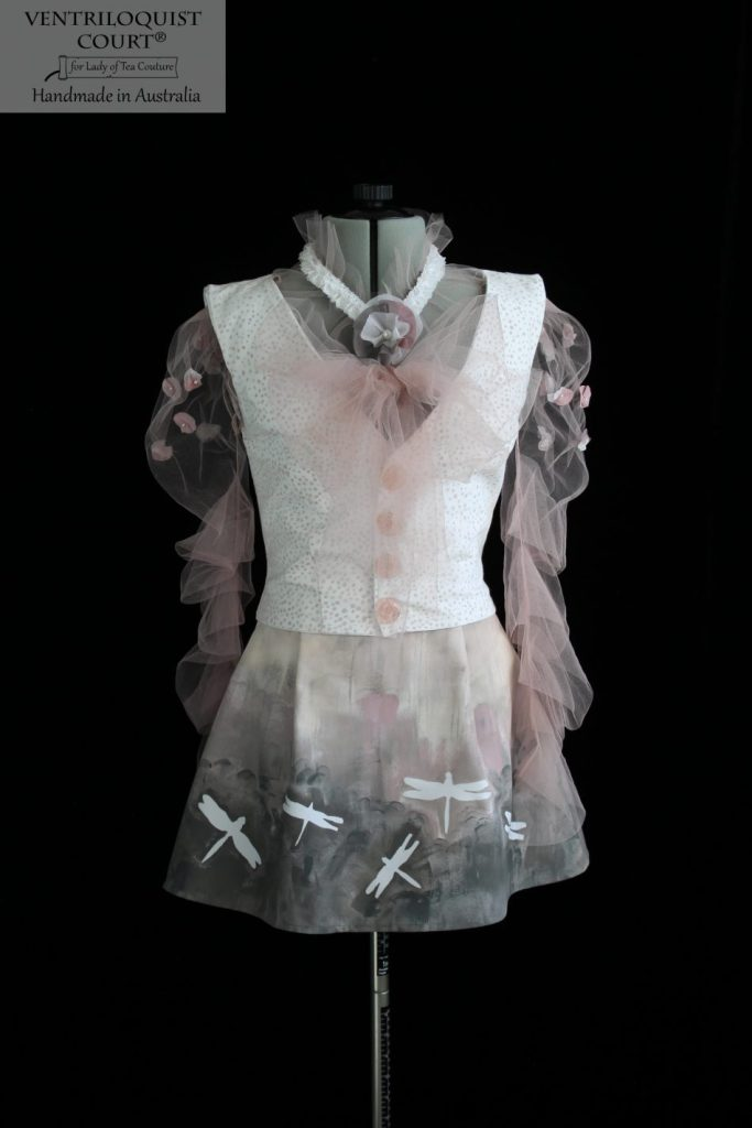 Fashion Art Hand-Painted Dragonfly Print Dress