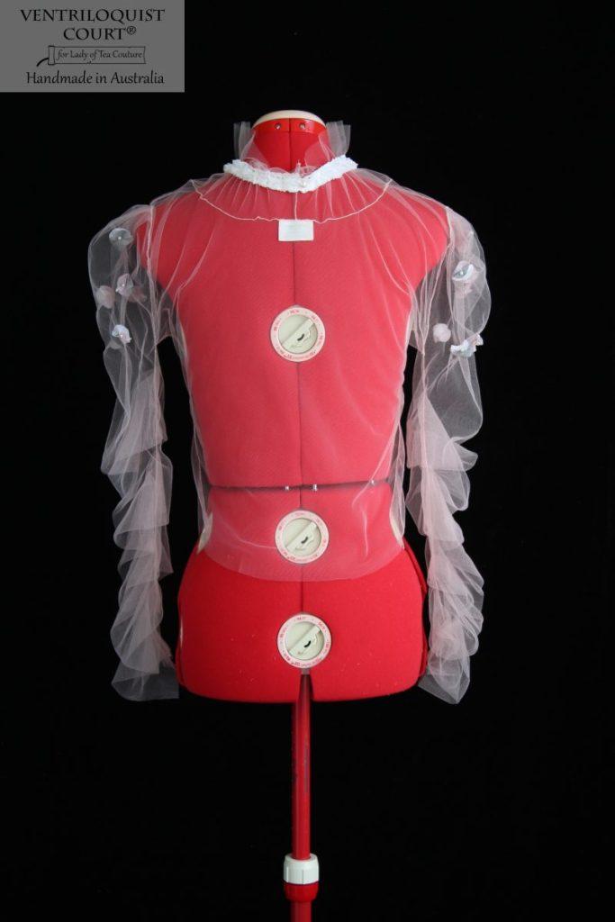Romantic Sheer Ruffle Sleeve Top Made in Australia