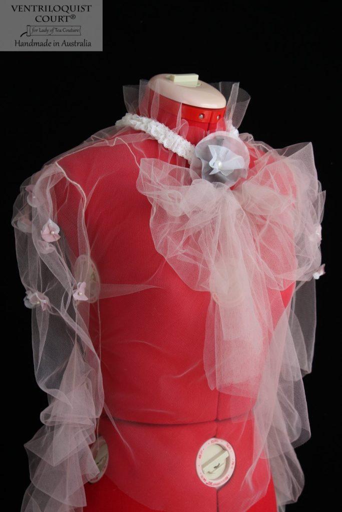 Handmade Oversize Bow Victorian Tulle Blouse