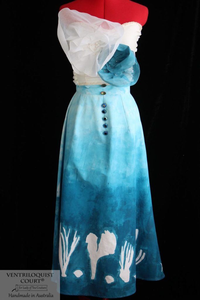 Underwater Print Dress Custom Made in Australia