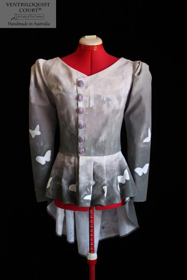 Handmade Puffly Sleeve Peplum Jacket