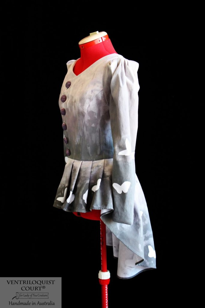 Tailored butterfly print cotton jacket