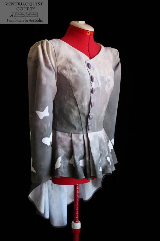 Butterfly print cotton jacket